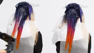 Color Intensity hair color technique melting sunset step 7