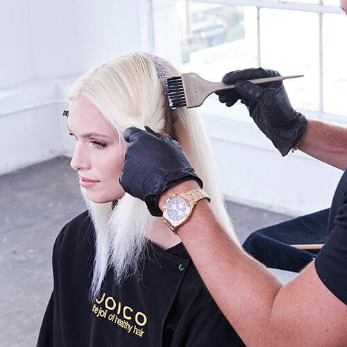 Platinum Pearl hair color technique Step 10