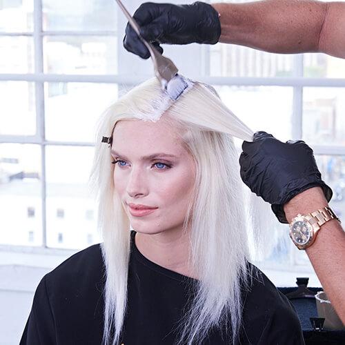 Platinum Pearl hair color technique Step 11