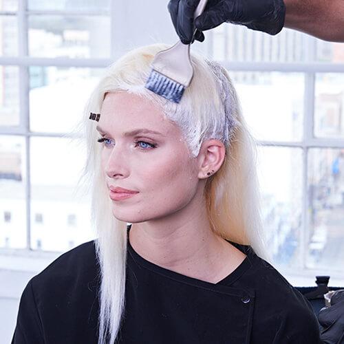 Platinum Pearl hair color technique Step 12
