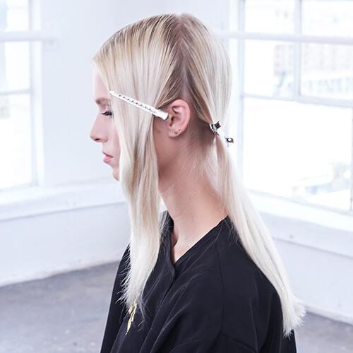 Platinum Pearl hair color technique Step 2