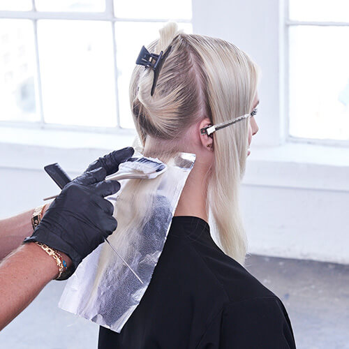 Platinum Pearl hair color technique Step 3