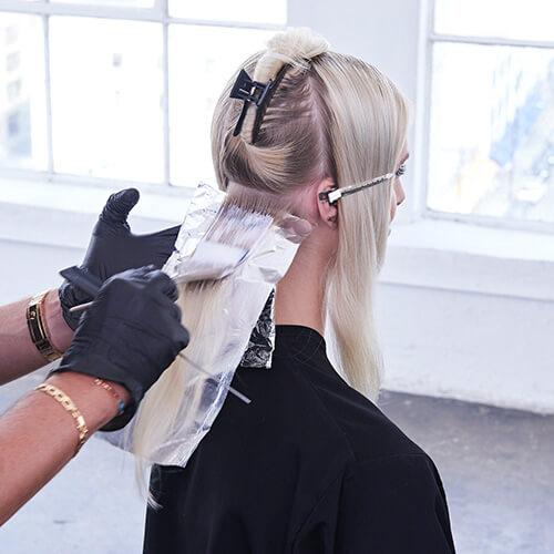 Platinum Pearl hair color technique Step 4