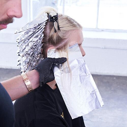 Platinum Pearl hair color technique Step 5