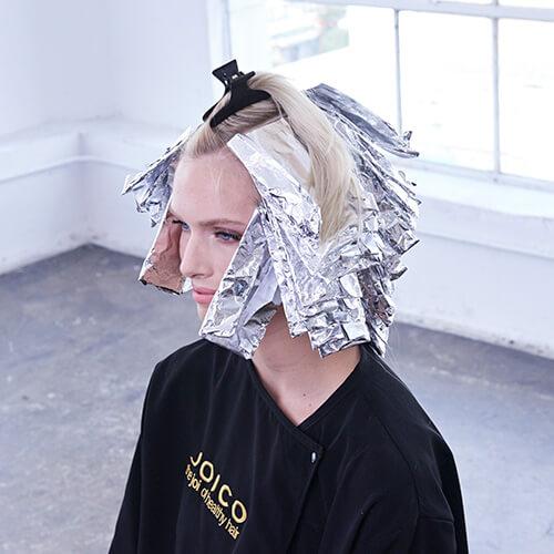 Platinum Pearl hair color technique Step 6