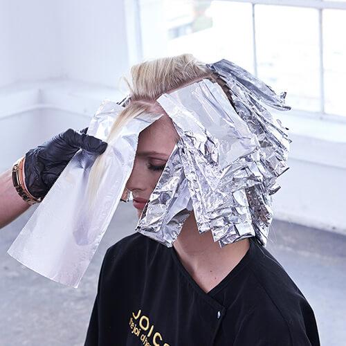 Platinum Pearl hair color technique Step 7