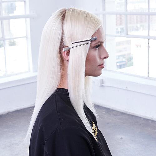 Platinum Pearl hair color technique Step 9