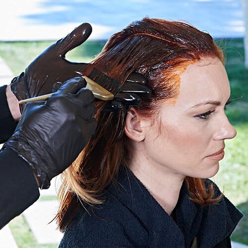 Ribbon Lights hair color technique step 10