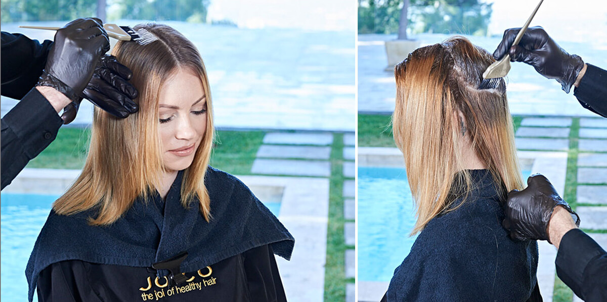 Ribbon-Lights hair color technique step 2