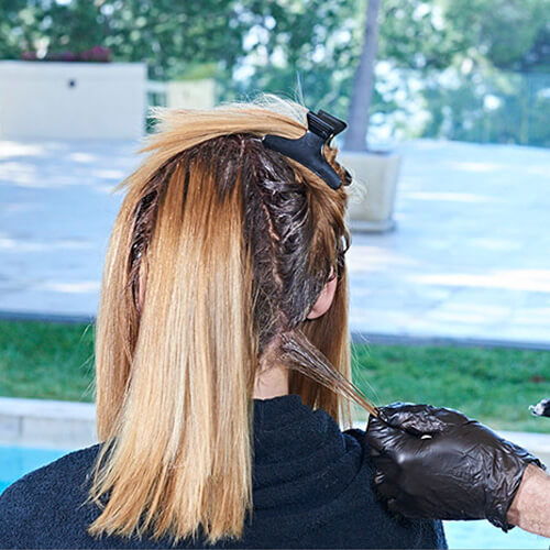 Ribbon-Lights hair color technique step 3