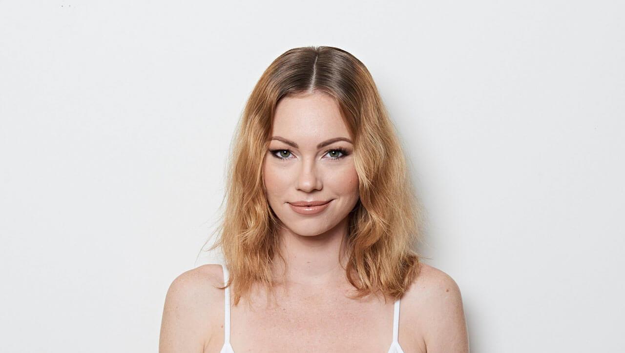 Ribbon-Lights hair color technique model before