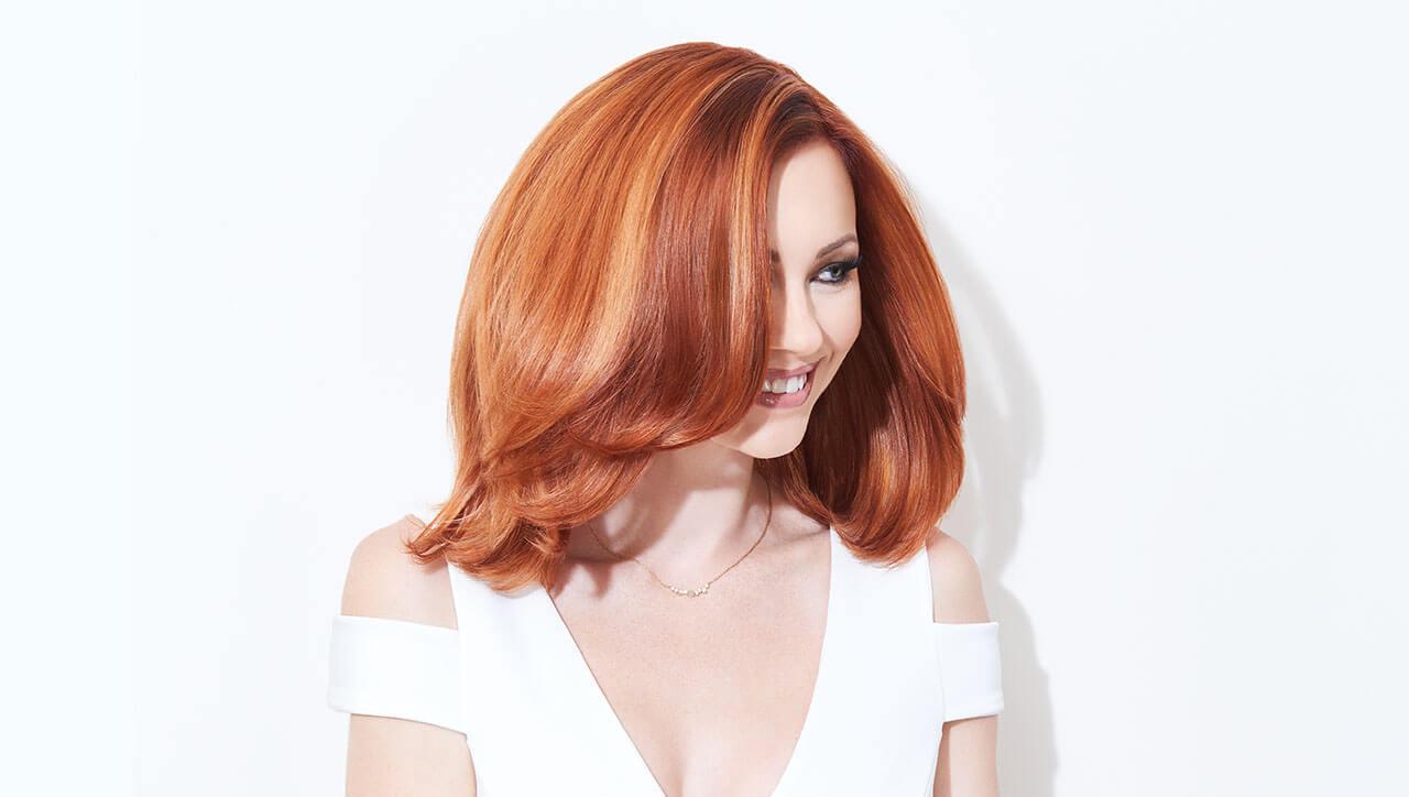 Ribbon-Lights hair color technique model after
