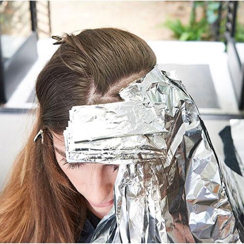 silver blue siren hair color technique step 12