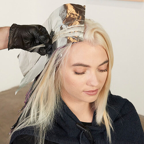 Smoked Taupe hair color technique step 5