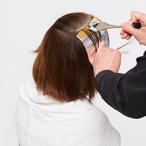 Ageless brunette hair color technique step 2