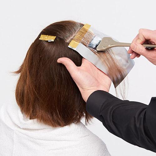Ageless brunette hair color technique step 3