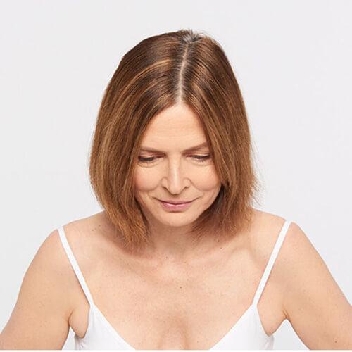 Ageless brunette hair color technique step 1