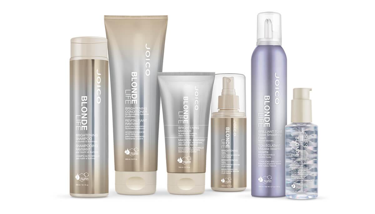 blonde life consumer product full line bottles