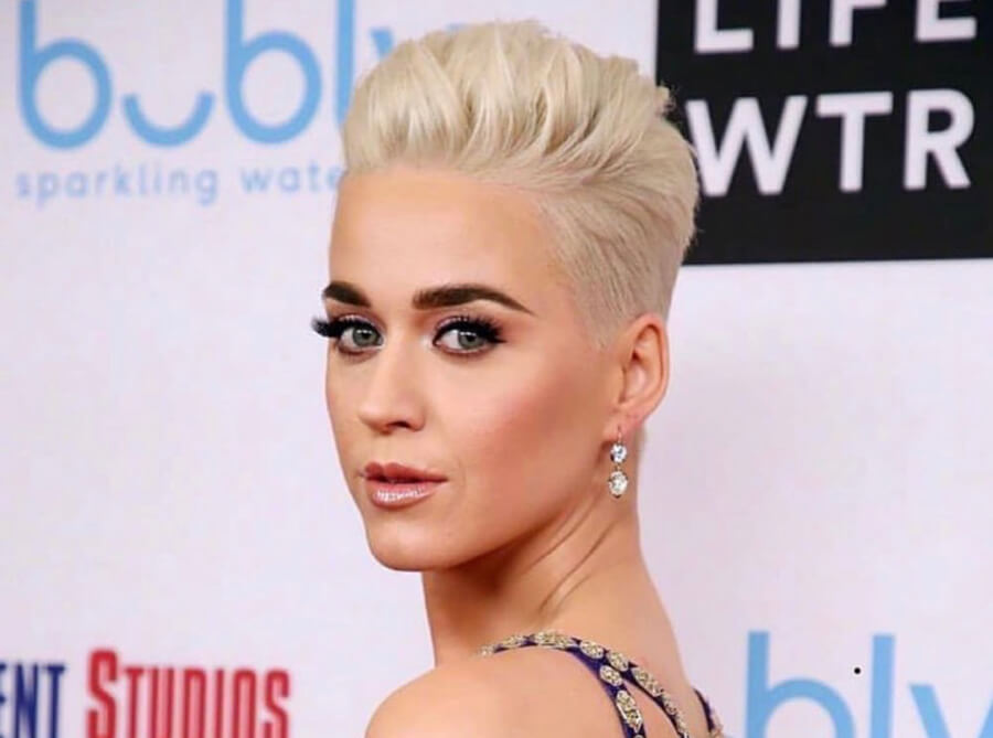Katy Perry Blonde pixie cut and hair color