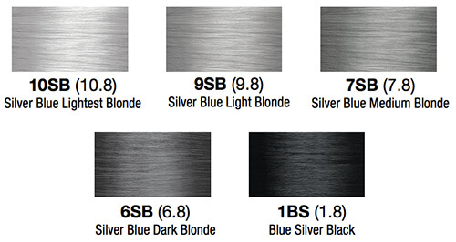 lumishine silver blue series color swatches