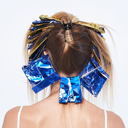 Sunkissed coastal blonde hair color technique step 7