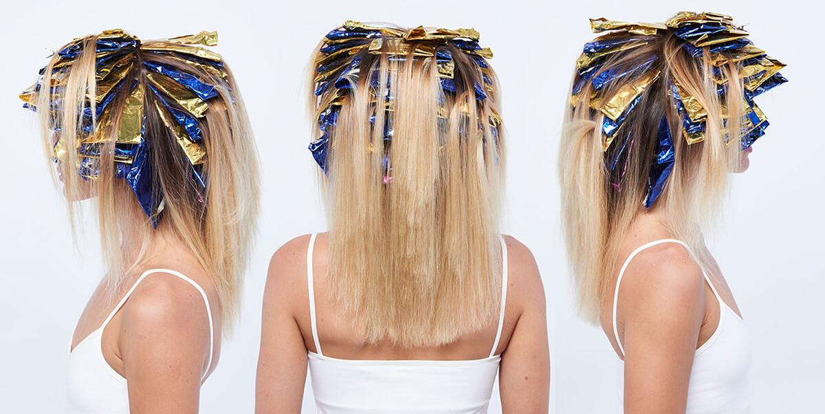 Sunkissed coastal blonde hair color technique step 9
