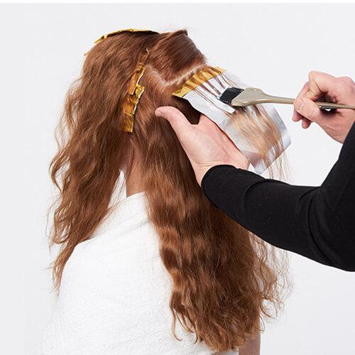 Vivacious red hair color technique step 3