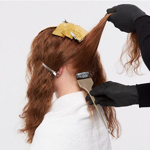 Vivacious red hair color technique step 4