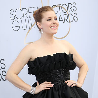 Amy Adams in Black Dress at Guild Awards