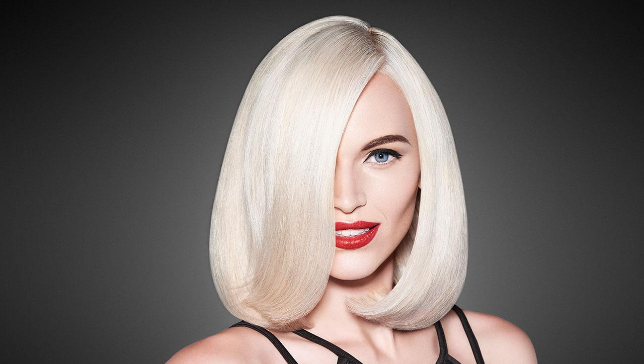 Power Platinum Blonde Hair Color Model After