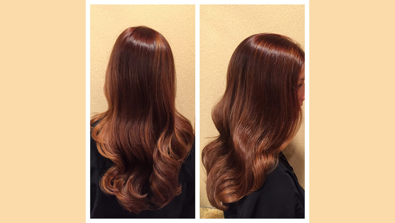 Red Bronze Hair Color Formula Model After