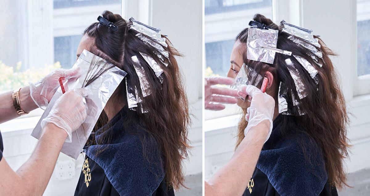 Royal Brunette Hair Color Formula Step 8