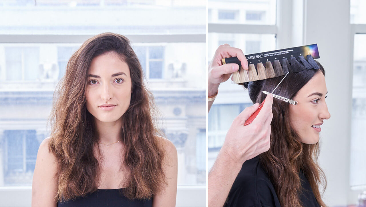 Royal Brunette Hair Color Step by Step Before