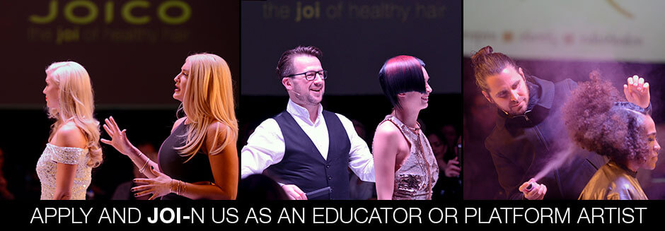 Joico educators on Stage