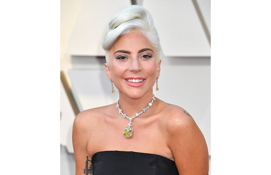 Lady Gaga Updo at Oscars