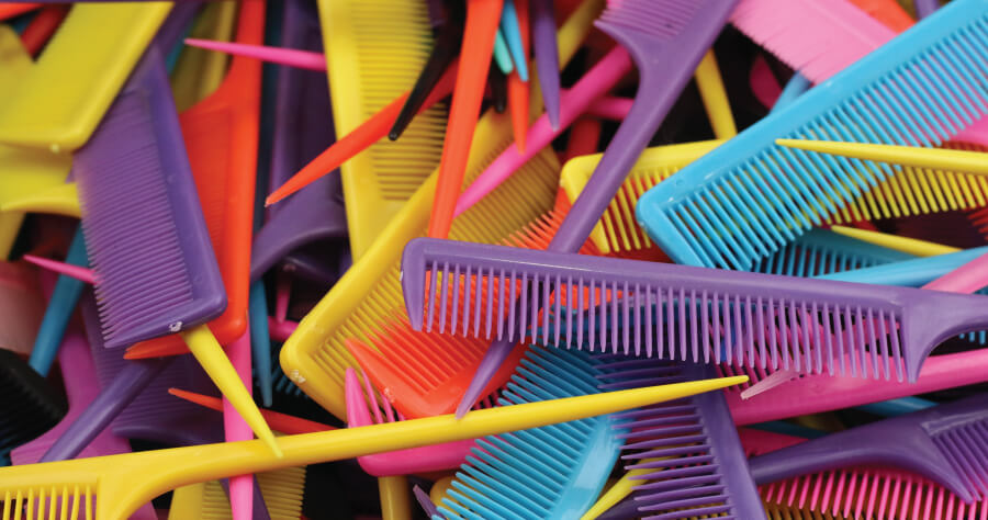 Colorful hair combs