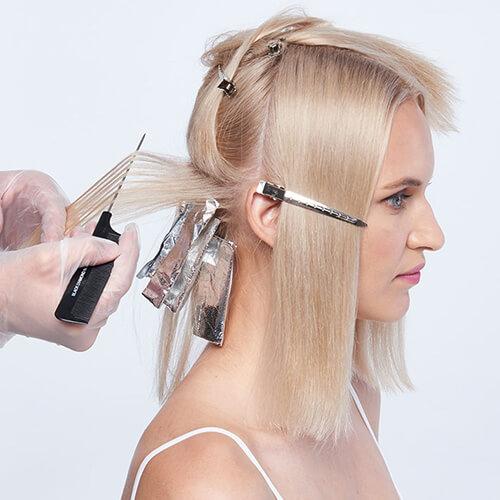 Platinum power blonde tutorial Step1