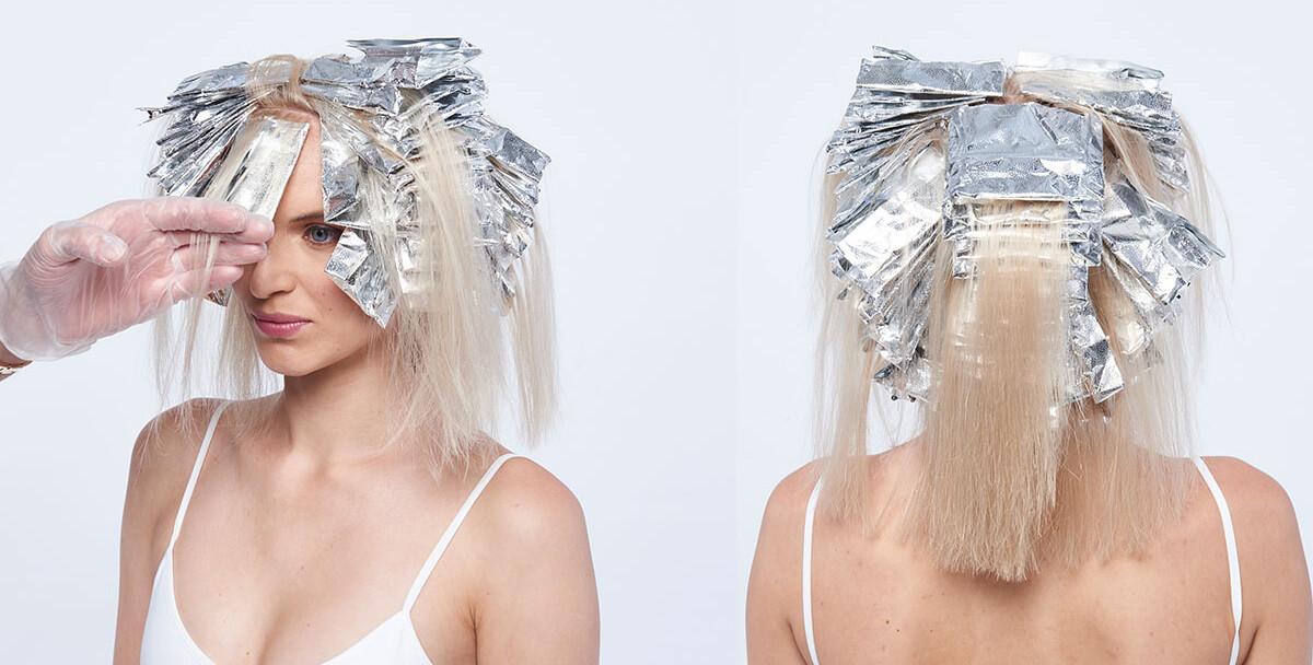 Platinum power blonde tutorial Step10