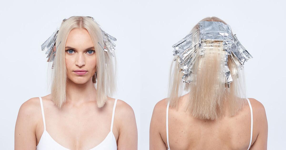 Platinum power blonde tutorial Step5