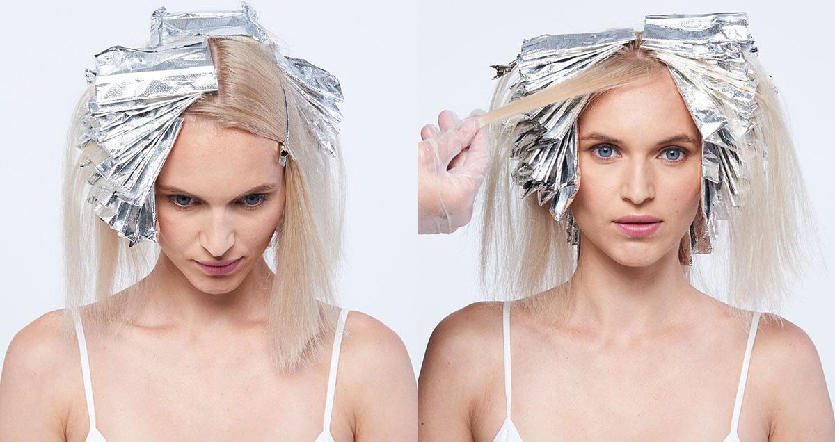 Platinum power blonde tutorial Step9