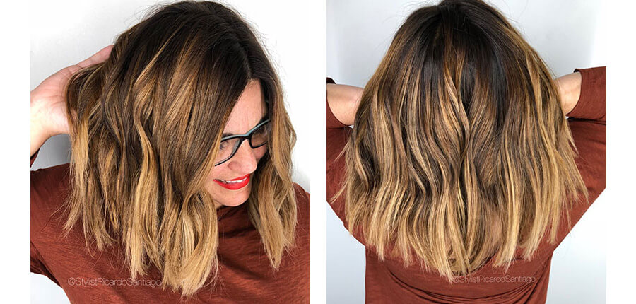 Dimensional Hair Color Model Before & After