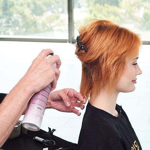 Fire Red Quick Melt Hair Color Technique Step 1