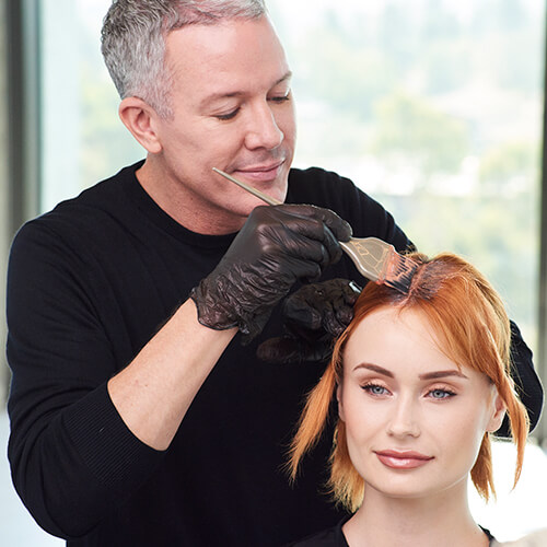 Fire Red Quick Melt Hair Color Technique Step 4
