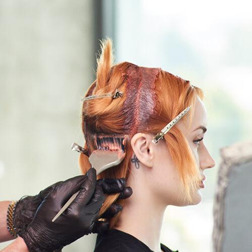 Fire Red Quick Melt Hair Color Technique Step 5