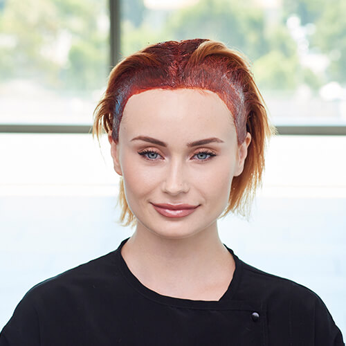 Fire Red Quick Melt Hair Color Technique Step 6
