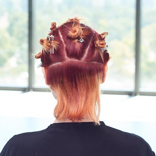 Fire Red Quick Melt Hair Color Technique Step 8