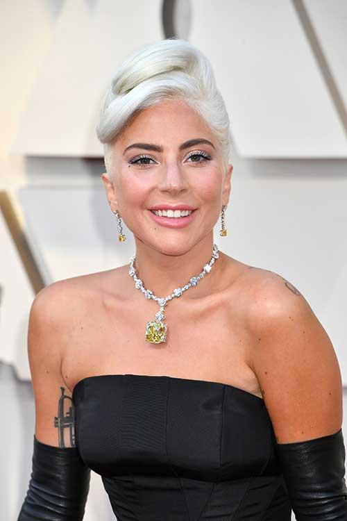 Lady Gaga Updo at Oscars