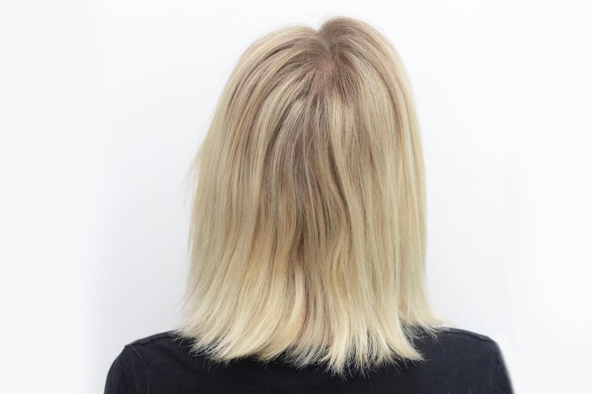 Jules Hough Blonde Hair Before