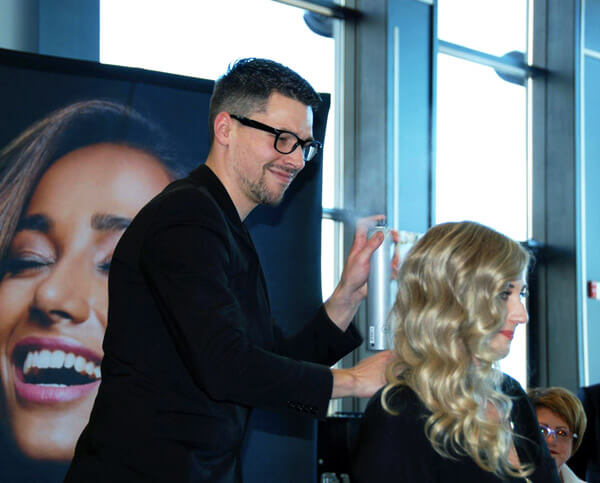 Joico Muse Marc-André Poulin doing clients hair