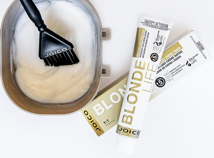 Blonde Life Quick Tone Creme Toner mixed in bowl